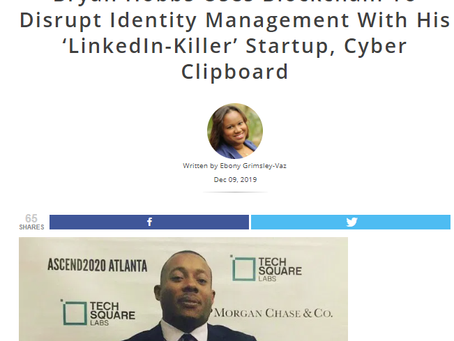 Bryan Hobbs Uses Blockchain To Disrupt Identity Management With His 'LinkedIn-Killer' Startup
