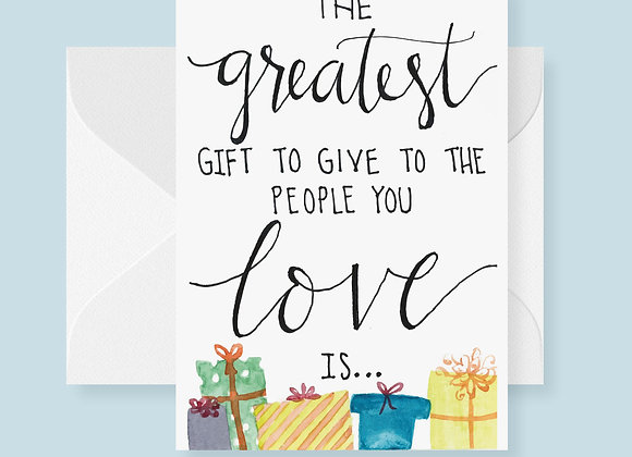 The Greatet Gift