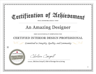 Certified InteriorDesign Professionl Certfication