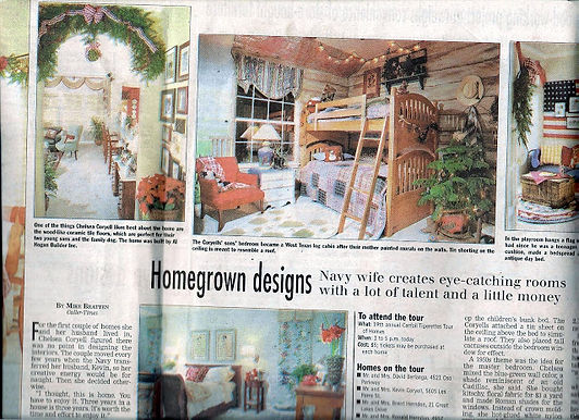 Interior Designer Chelsea Coryell Owner of Design for a Living Newspaper Publicity