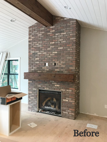 Before: Fireplace Brick Work