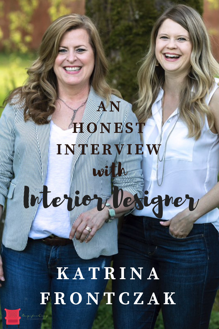 interior designer katrina Frontczak talks about starting her own staging and home decor business