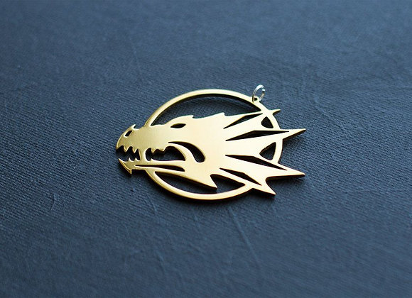 Golden color Salamanders pendant