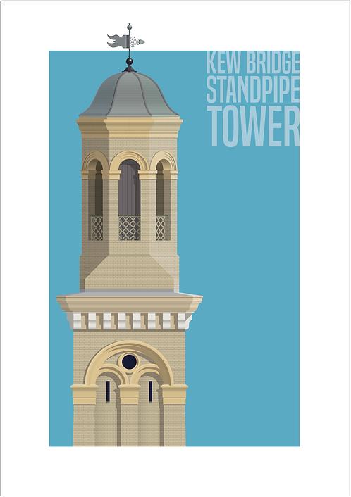 Kew Bridge Standpipe Tower - 594mm x 840mm