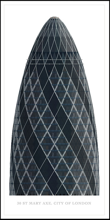 St Mary Axe, The Gherkin - 500mm x 1000mm