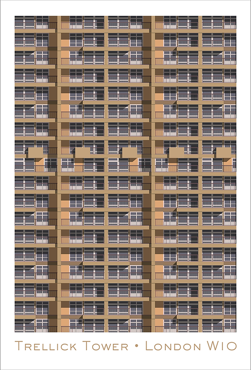 Trellick Tower Section - 594mm x 840mm