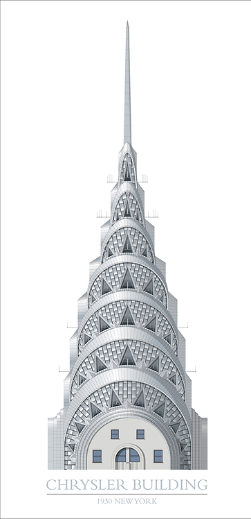 Chrysler Building Section - 420mm x 840mm