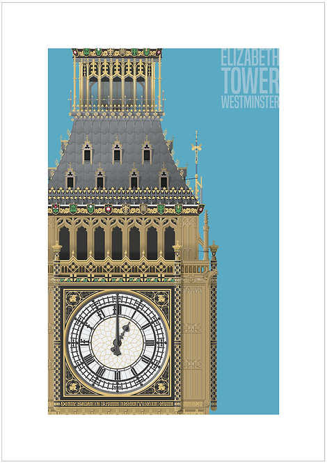 Elizabeth Tower - 594mm x 840mm