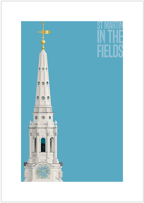 St Martin in the Fields - 594mm x 840mm