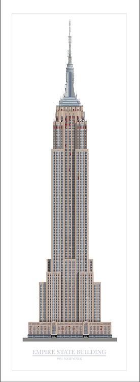 Empire State Building (medium) - 320mm x 840mm
