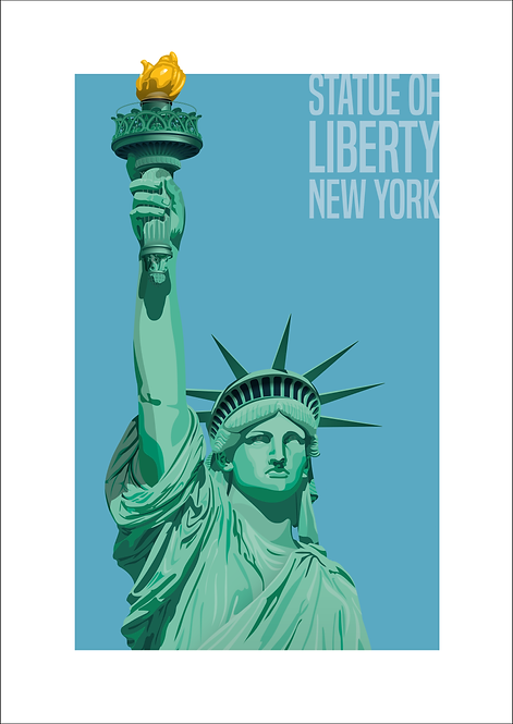 Statue of Liberty, New York - 594mm x 840mm