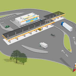 Shell Station Illustration