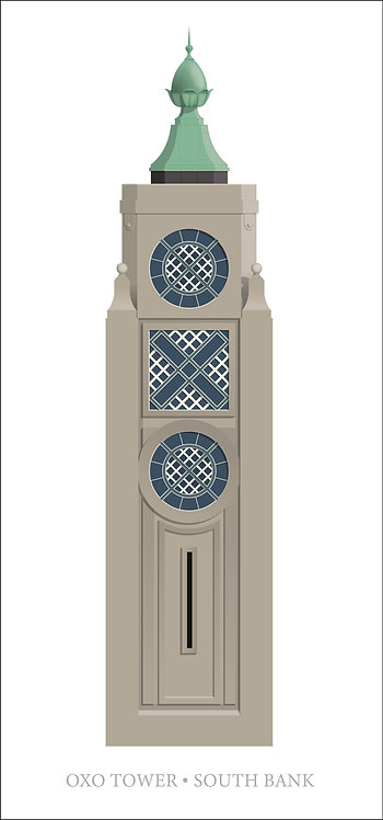 OXO Tower, London - 500 x 1000mm