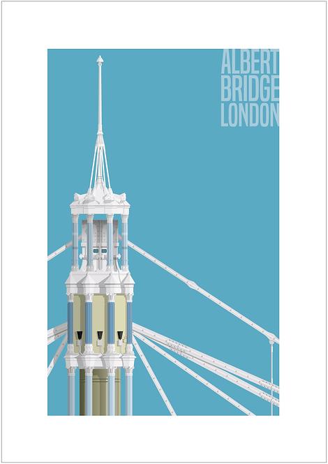 Albert Bridge, London - 594mm x 840mm