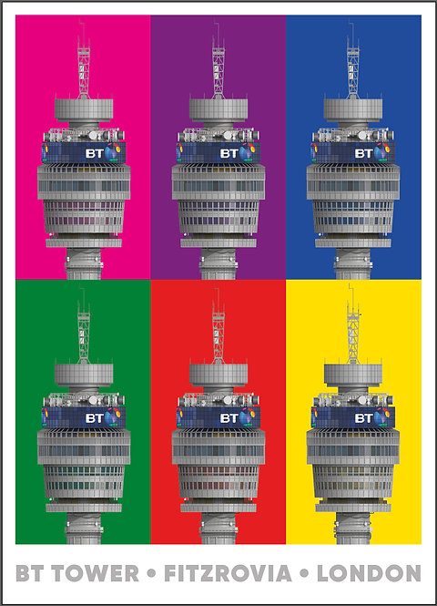 BT Tower - Multicolour - 594mm x 840mm