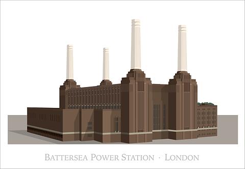 Battersea Power Station - 840mm x 594mm