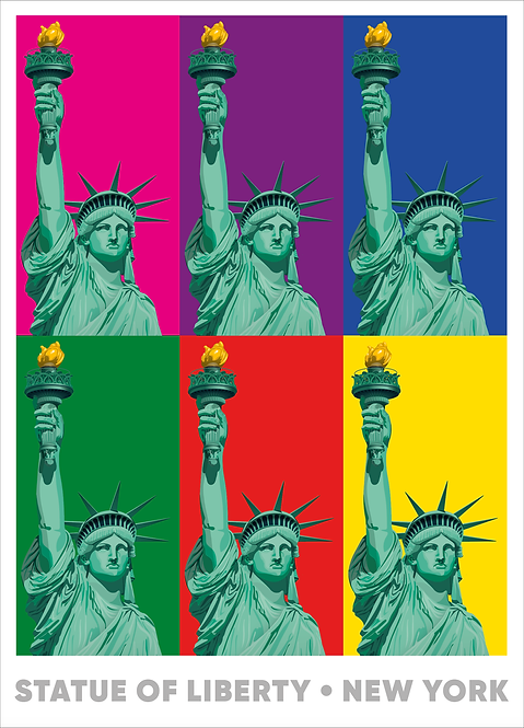 Statue of Liberty - Multicolour - 594mm x 840mm