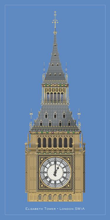 Elizabeth Tower - 420mm x 840mm