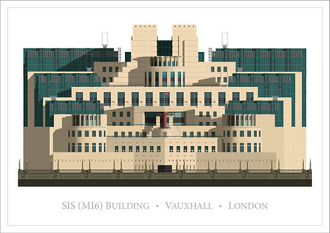 SIS (MI6) Building - 840mm x 594mm
