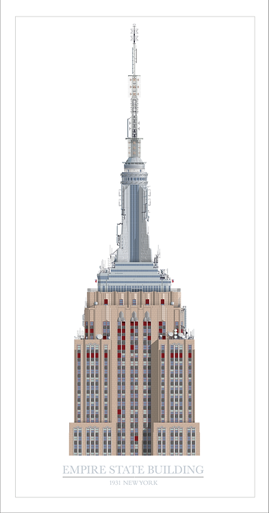 Empire State Building - 320mm x 840mm