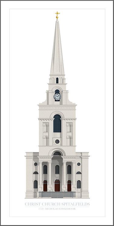 Christ Church Spitalfields - 500mm x 1000mm
