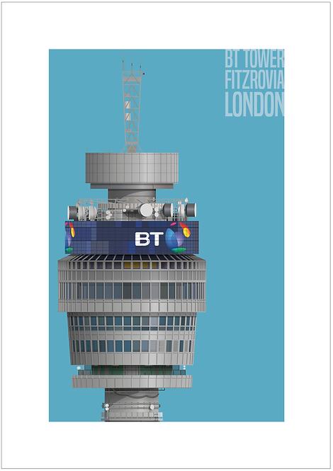 BT Tower - 594mm x 840mm