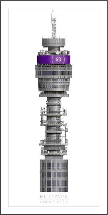BT Tower - 500mm x 1000mm