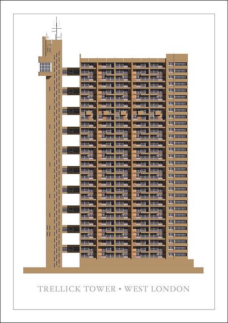 Trellick Tower - 594mm x 840mm