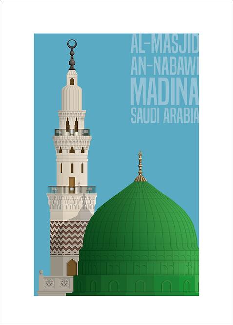 Al-Masjid an-Nabawi Medina - 594mm x 840mm