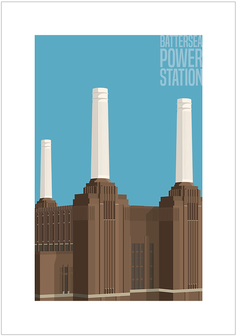 Battersea Power Station - 594mm x 840mm