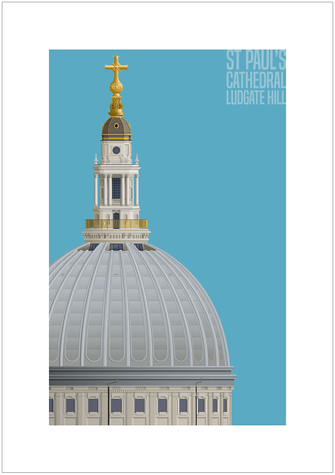 St Paul's Cathedral 594mm x 840mm