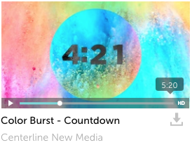 Color Burst Countdown