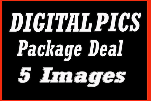 5 Digital Picture Files Package - FIVE Edited Images Package