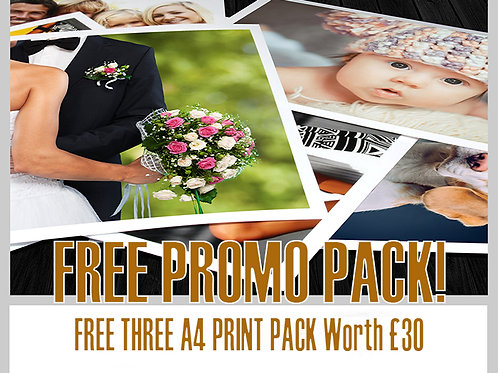 PACK of THREE A4 Prints - Professionally Edited & Printed