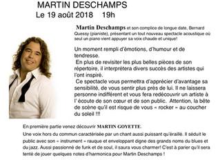 Martin Deschamps un rocker au coeur tendre sur la scène du Havre Musical!