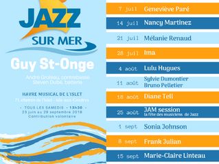 15 concerts jazz en bord de mer!