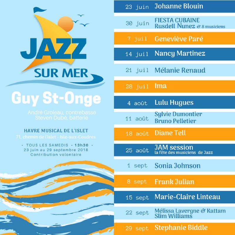 Jazz sur mer au Havre Musical de l'Islet