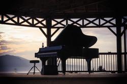 Piano au Havre Musical de l'Islet.