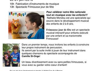 La St-Jean-Baptiste pour enfant!