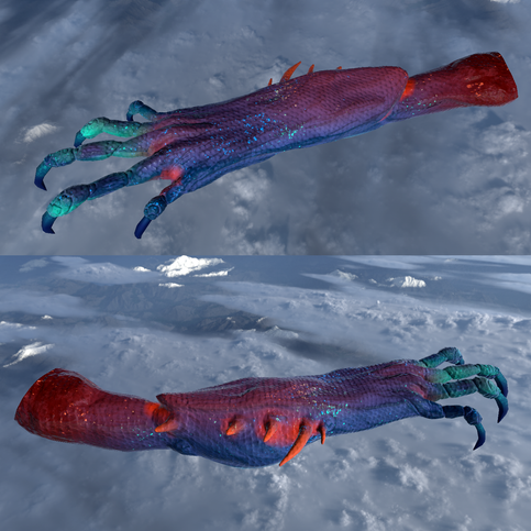 creature's arms
