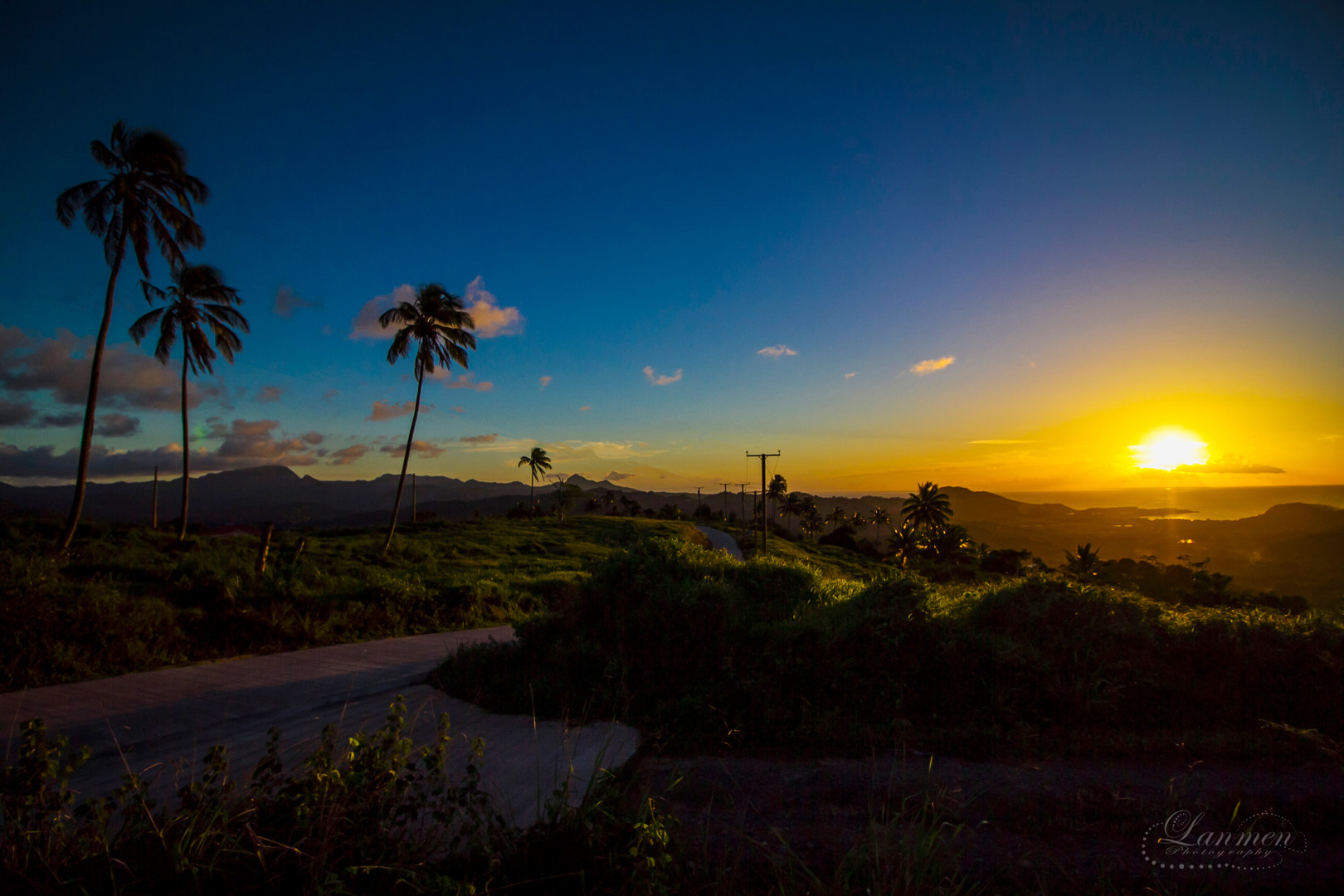 Saint Lucia Landscape Photogaphy Sunset