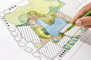 Landscape architect design backyard plan