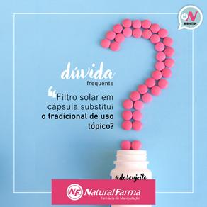 Filtro Solar oral substitui o filtro tópico?
