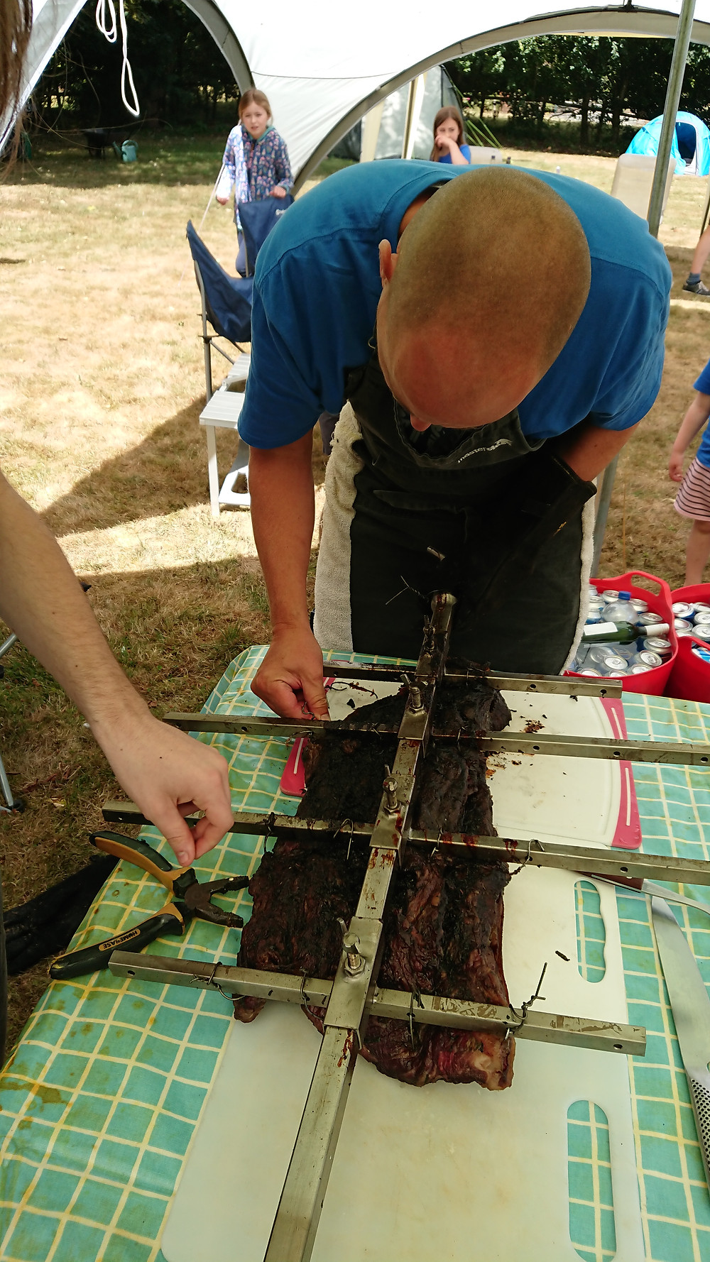 Pliers required to unwire the brisket