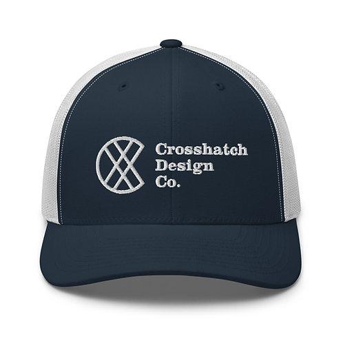 Crosshatch Design Co. wide logo Trucker Cap