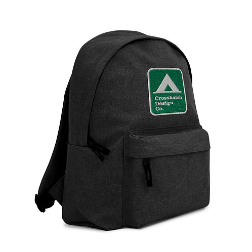 Embroidered Tent Camping Sign Backpack