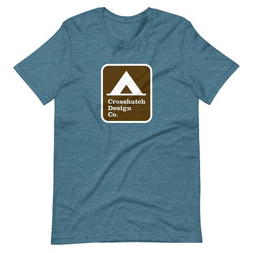 Tent Camping Sign Short-Sleeve Unisex T-Shirt
