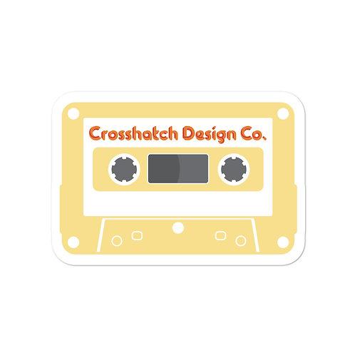 Yellow Cassette sticker