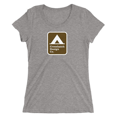 Tent Camping Sign Ladies' short sleeve t-shirt