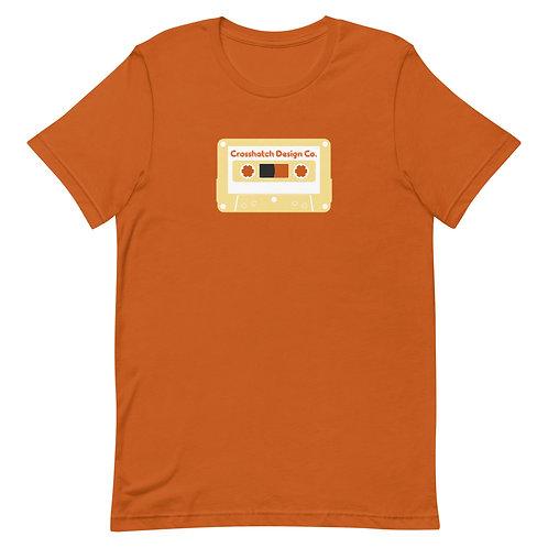 Yellow Cassette Short-Sleeve Unisex T-Shirt